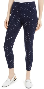 Maison Jules Printed Ponte-Knit Pants, Created for Macy's