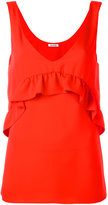 P.A.R.O.S.H. ruffled detail tank - women - Polyester - S
