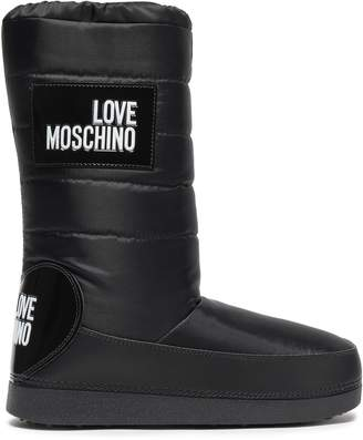 Love Moschino Appliqued Shell Snow Boots