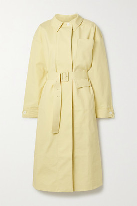 Jacquemus Camiseto Belted Cotton Trench Coat - Pastel yellow