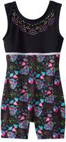 Jacques Moret Girls 4-14 Embellished Biketard Leotard