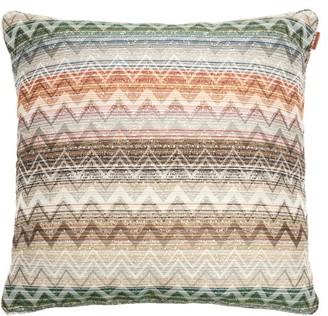 Missoni Home Yate Medium Squared Zigzag-jacquard Cushion - Brown Multi