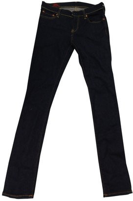 Evisu Blue Cotton - elasthane Jeans for Women