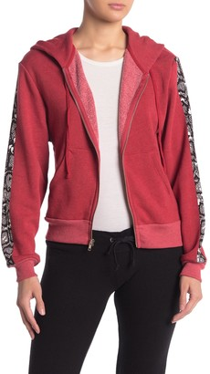 Wildfox Couture Everyday Python Track Jacket