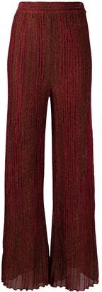 M Missoni Metallic Plisse Knit Trousers