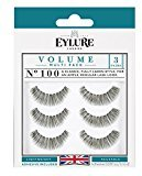 Eylure (Pack of 15 Pairs Naturalites #100 False Eyelashes, Black Multi-Pack