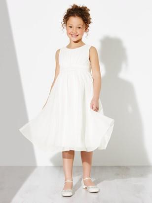 John Lewis & Partners Girls' Ava Beaded Chiffon Bridesmaid Dress, Ivory