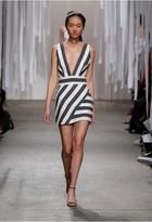 Milly Graphic Stripe Xback Mini Dress