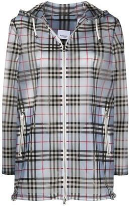 Burberry Check-Print Hooded Jacket