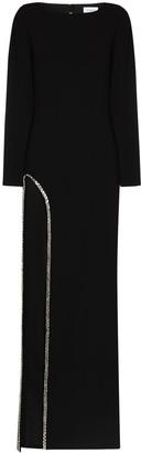 Mônot Backless High Slit Gown