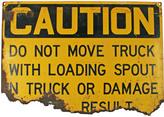 Rejuvenation Rusted Construction Site Caution Sign C1960s