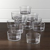 "Crate & Barrel Set of 12 Nosh 3.5"" Bowls"