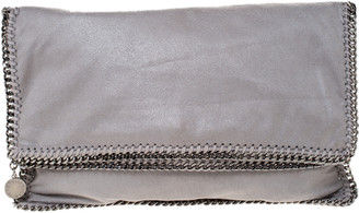 Stella McCartney Grey Faux Leather Falabella Clutch