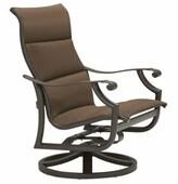 Tropitone Montreux Swivel Patio Dining Chair Tropitone Frame Color: Snow, Fabric: Cascade