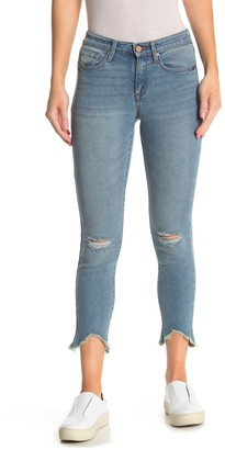 William Rast Ripped Knee Perfect Skinny Jeans