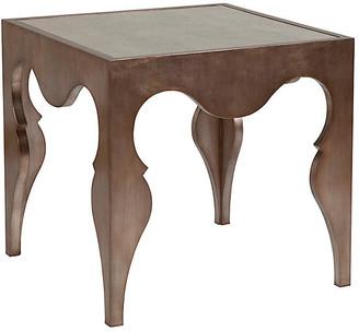 Artistica Van Cleef Side Table - Silver Leaf frame, silver leaf; glass, antiqued mirrored