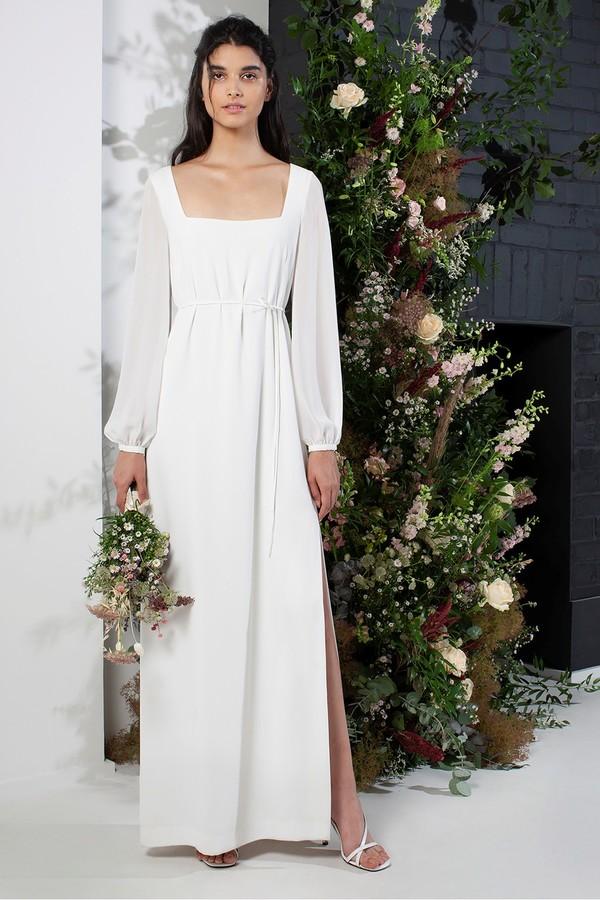 French Connection Aadina Crepe Column Wedding Dress
