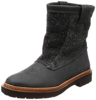 Clarks Women's Trace Fern Slouch Boots, Grey (Dark Grey Combi)