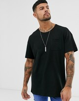 Esprit oversize t-shirt in black