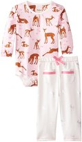 Hatley Onesie Play Set (Baby) - Puzzle Piece Horses-12-18 Months