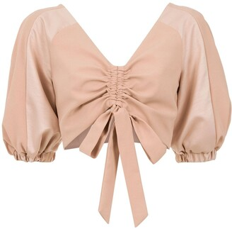 Olympiah Condotti cropped top
