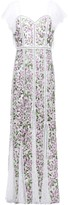 Alice + Olivia Lace And Velvet-trimmed Embroidered Tulle Maxi Dress