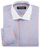 Stacy Adams Long Sleeve Woven Stripe Dress Shirt