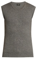Jil Sander Ribbed-knit Wool And Silk-blend Top