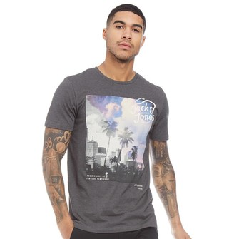 Jack and Jones Mens Originals Stunt T-Shirt Asphalt