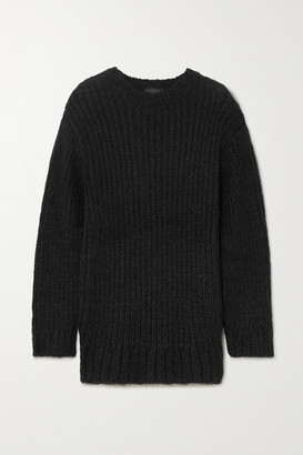 The Range Fog Ribbed-knit Sweater - Black