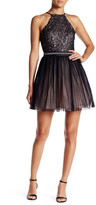 Trixxi Embellished Sequin Pleat Mini Dress (Juniors)