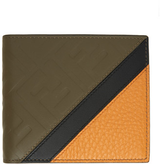 Fendi Brown Leather Forever Bifold Wallet