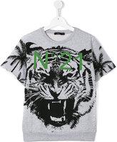 No21 Kids - tiger print T-shirt - kids - Cotton/Spandex/Elastane - 13 yrs