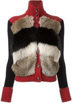 RED Valentino fur detail cardigan