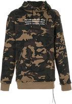 Mastermind Japan camouflage skull and crossbones hoodie