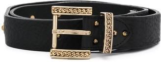 Just Cavalli Engraved Buckle Belt