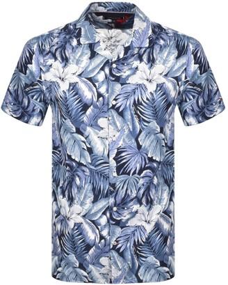 Tommy Hilfiger Short Sleeved Hawaiian Shirt Blue