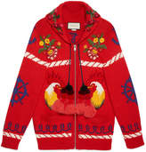 Gucci Wool bomber jacket with appliqués
