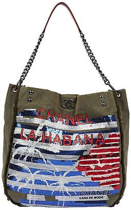 One Kings Lane Vintage Chanel Coco Cuba Sequins Tote - Vintage Lux