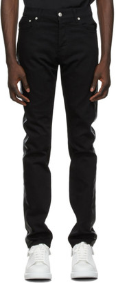 Alexander McQueen Black Paneled Jeans