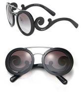 Prada 54MM Round Acetate & Metal Sunglasses