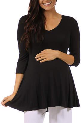 24/7 Comfort Apparel Plus Maternity Womens Knit Blouse
