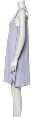 Lake Studio Striped Mini Dress Purple