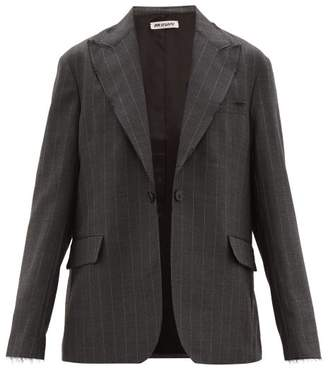 Our Legacy Pinstripe Single Breasted Twill Blazer - Mens - Grey