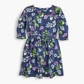 J.Crew Girls' elastic-waist dress in blue floral