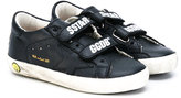 Golden Goose Deluxe Brand Kids - logo strap trainers - kids - Cotton/Leather/Artificial Leather/rubber - 23
