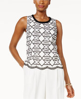 Nine West Geometric Lace Top