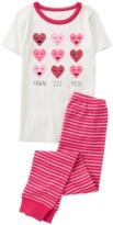 Crazy 8 Hearts 2-Piece Pajama Set