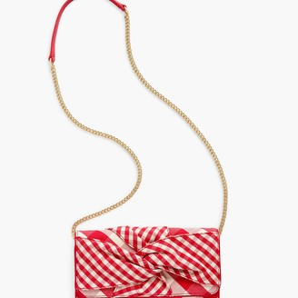 Talbots Gingham Knotted Clutch