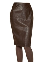 Maurizio Pecoraro Nappa Leather Pencil Skirt